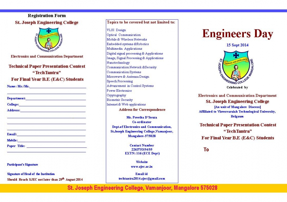 Engineering college paper presentation